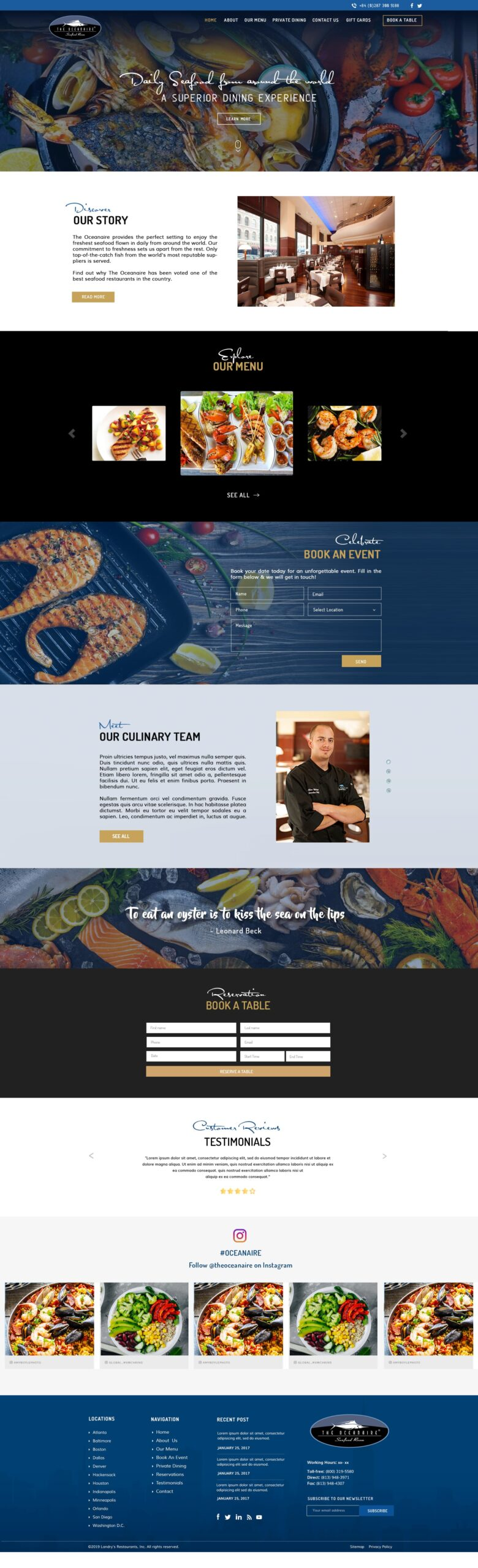 Restaurant Website Design Agency